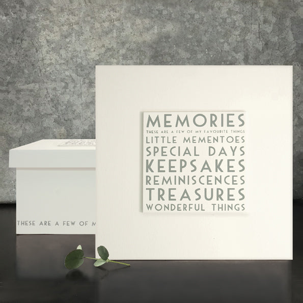 East of India Memories keepsake box