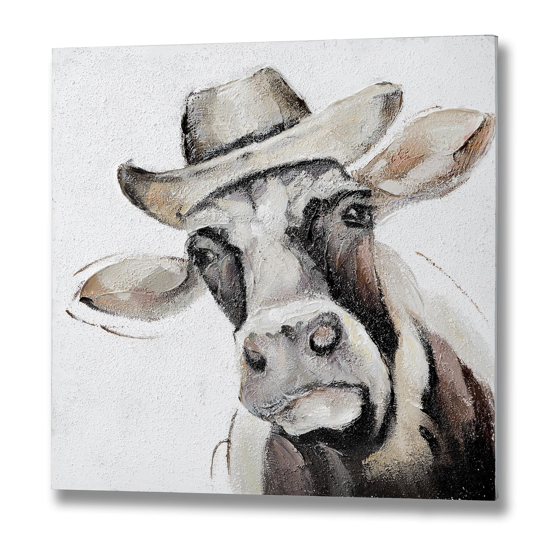 Cow in trilby picture