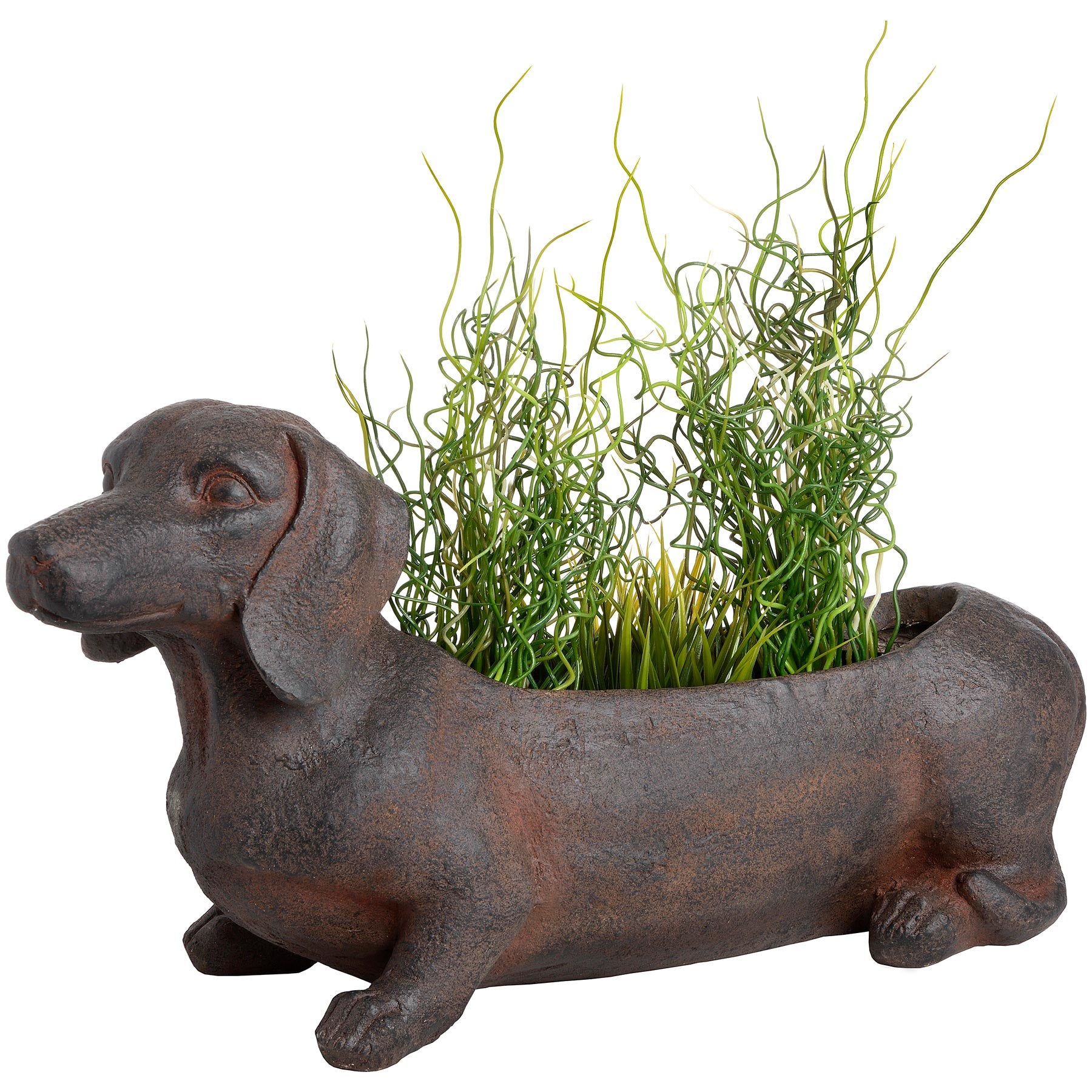 Ernie The Sausage Dog Rustic Planter