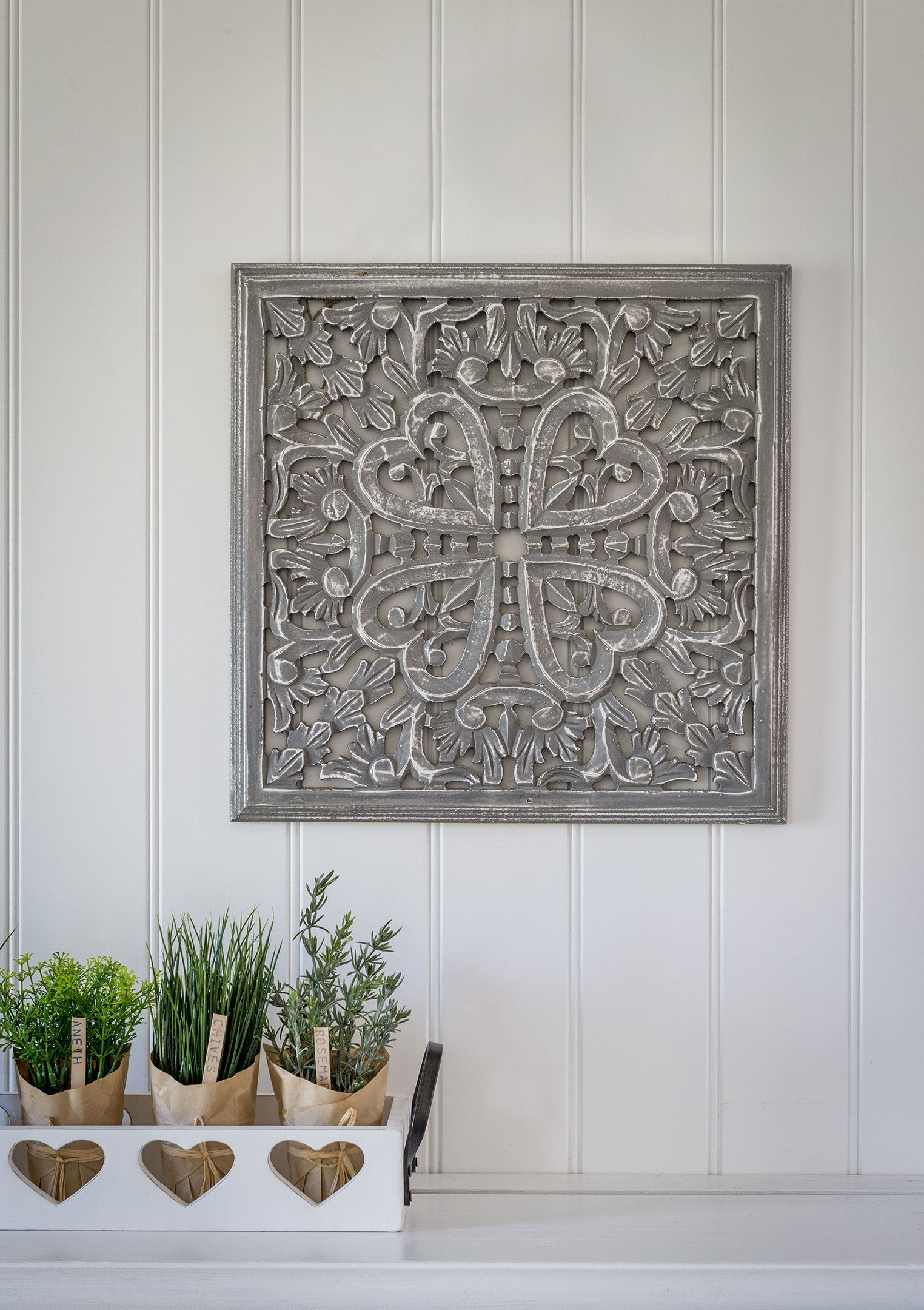 Small square grey panel / wall plaque