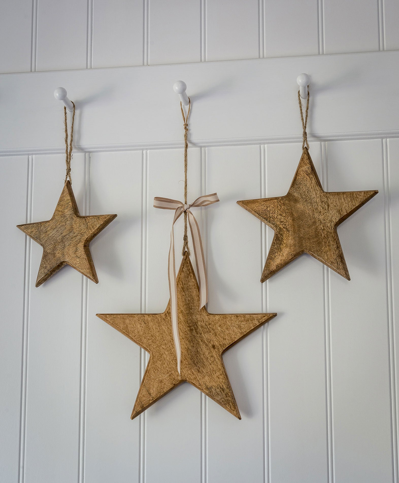 Natural Wooden Stars - 3 Sizes