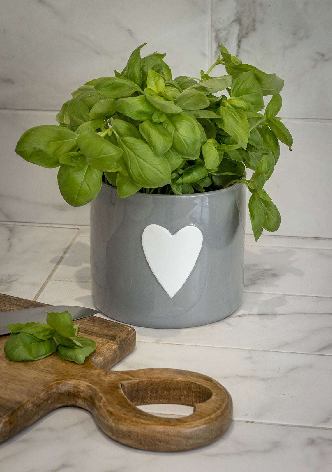 Grey or White Heart Pot - 2 Colours