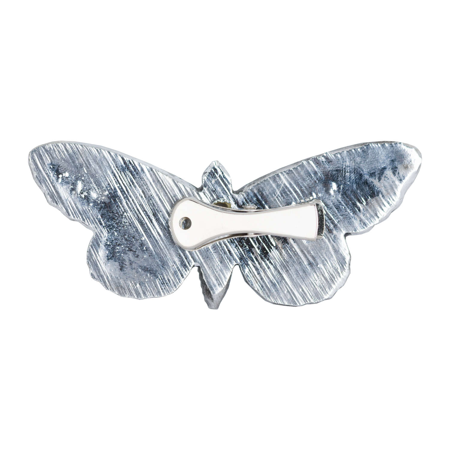 Antique Silver Butterfly Decorative Clip