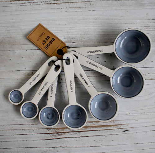 Set of 7 Ceramic Measuring Spoons