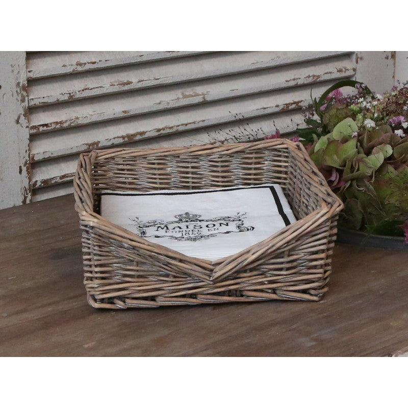 Willow napkin basket