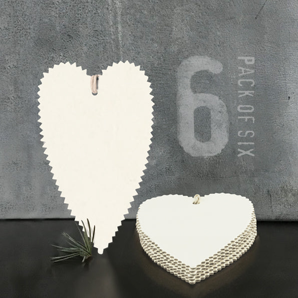Pack of 6 Heart Tags