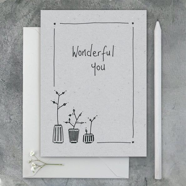 East of India 'Wonderful You' Card