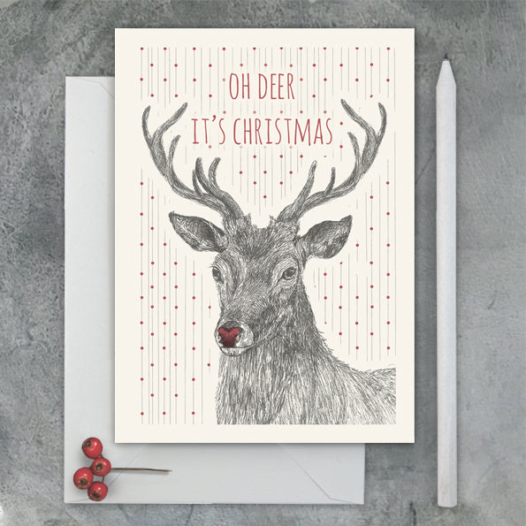 East of India 'Oh Deer' Christmas Card