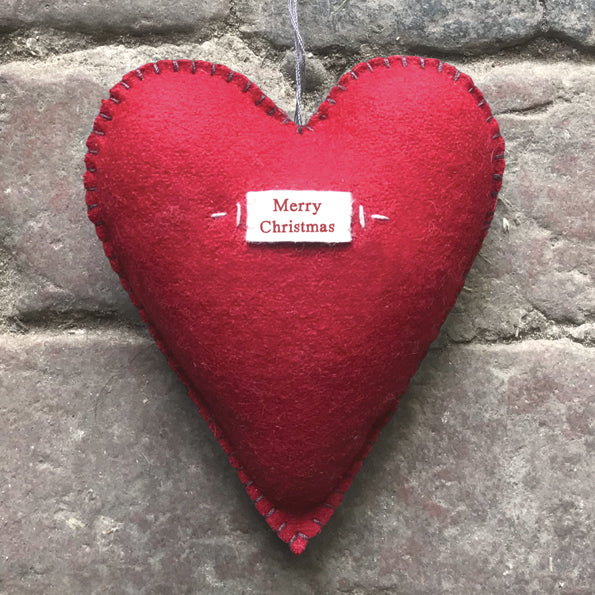 Red Merry Christmas Heart