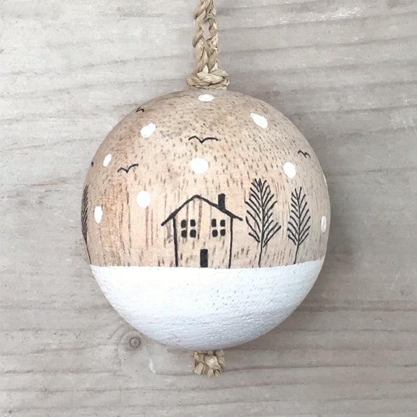 Handpainted wooden Baubles - 5cm
