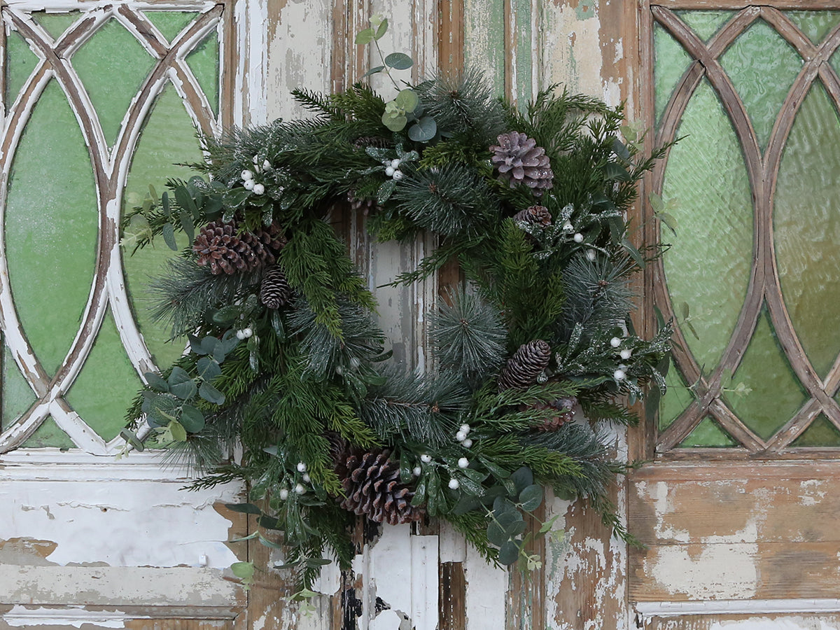 Faux Christmas Wreath