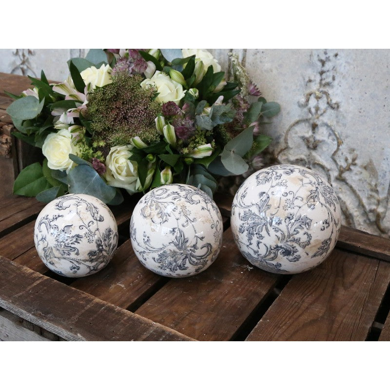 Grey Decorative Melun ball - 4 sizes