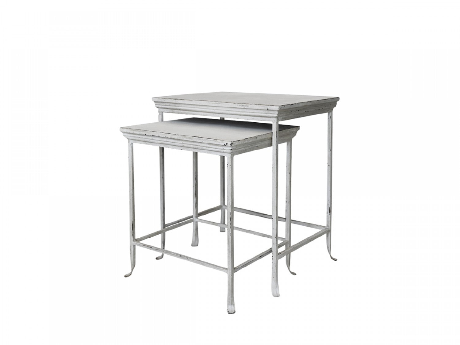 Set of 2 Metal Nesting Tables