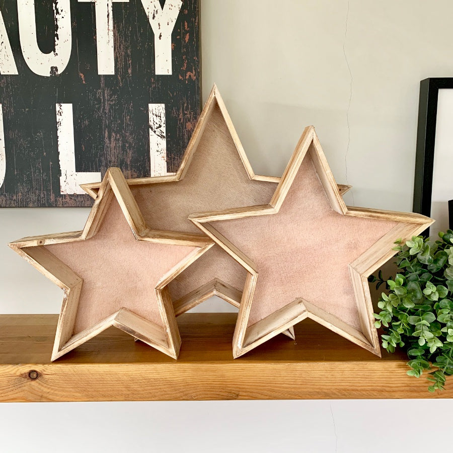 Set of 3 Star trays
