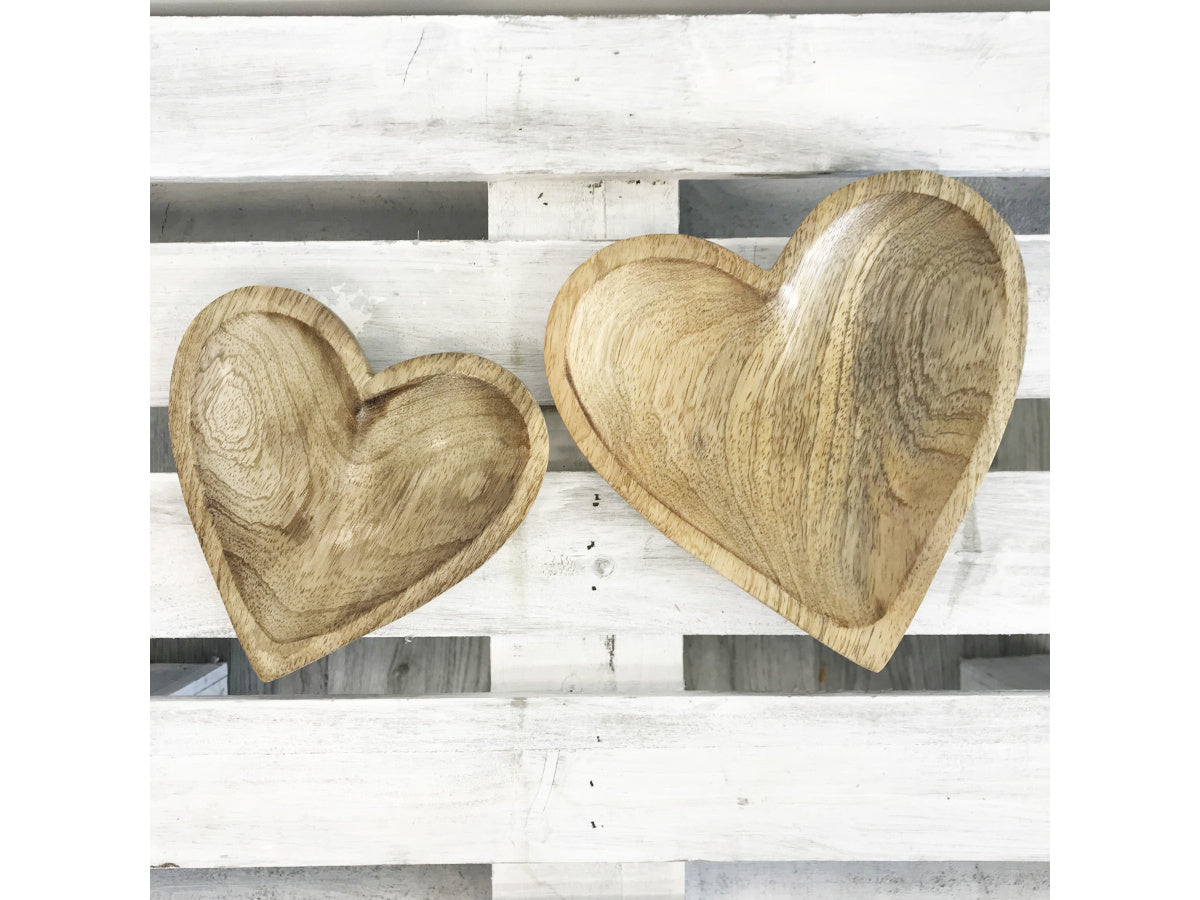 Wooden heart plate - 2 sizes