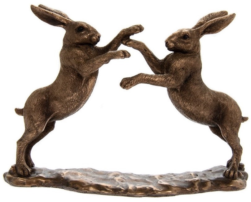 Pair of Boxing Hares