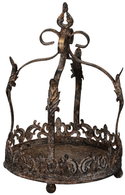 Distressed Bronzed Crown