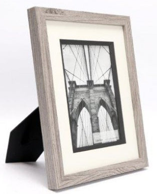 Greywash wooden frame 5x7""