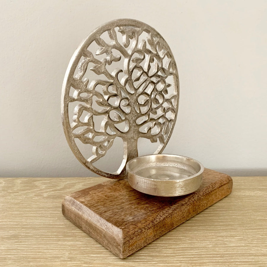 Tree of life candle holder