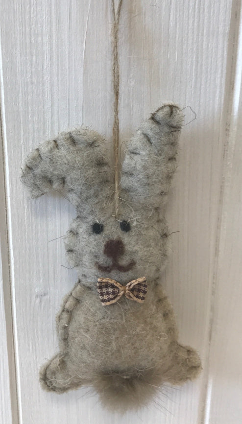 Hanging Woollen Rabbit
