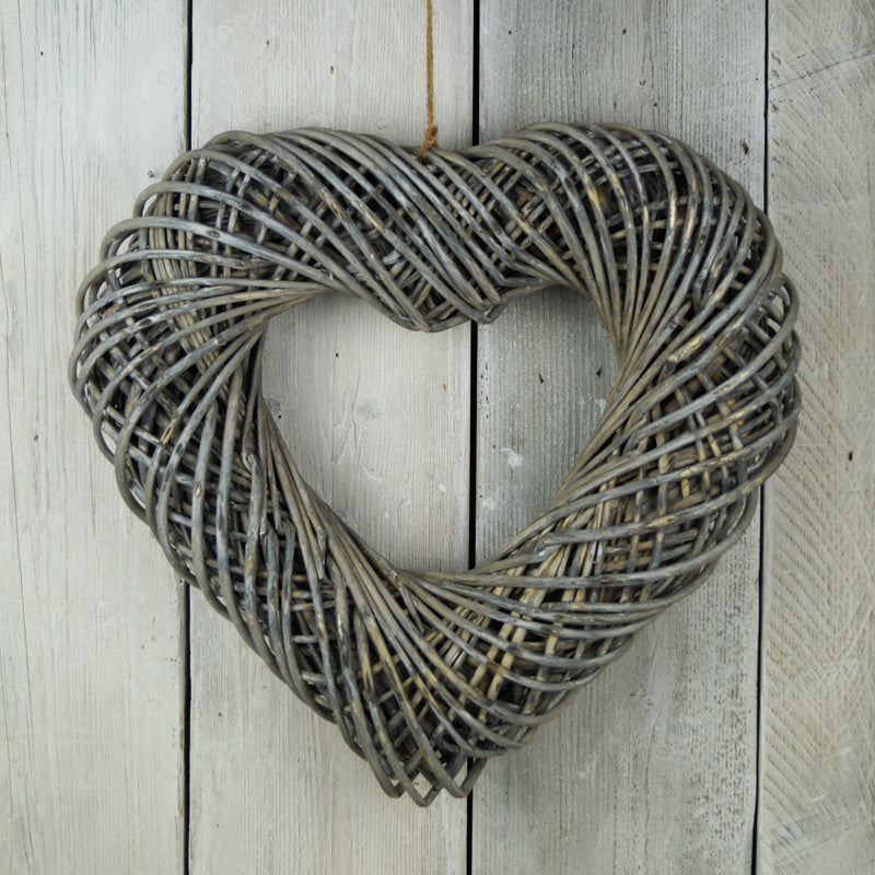 Wrapped wicker heart