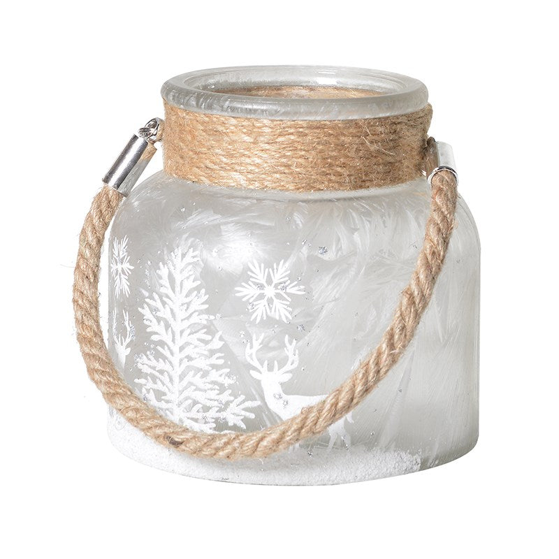 White Frosted Christmas Lantern