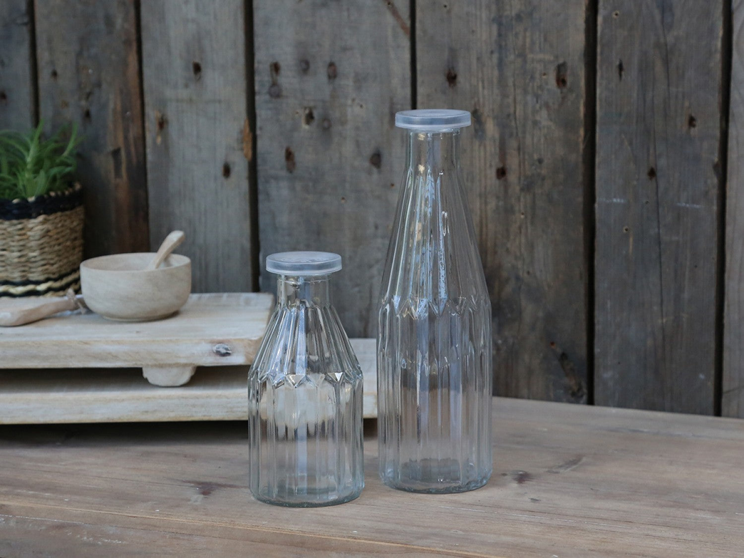French bottle & lid - 2 sizes