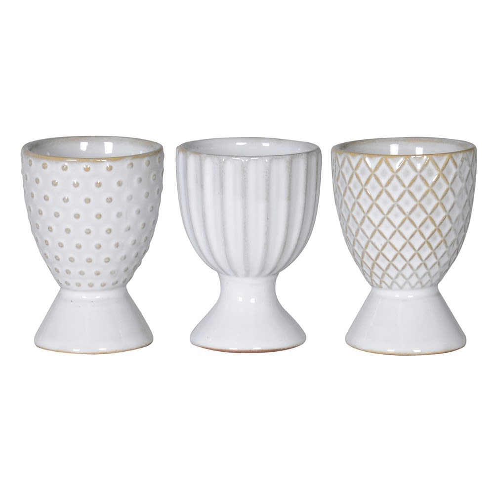 White Wash Egg Cups
