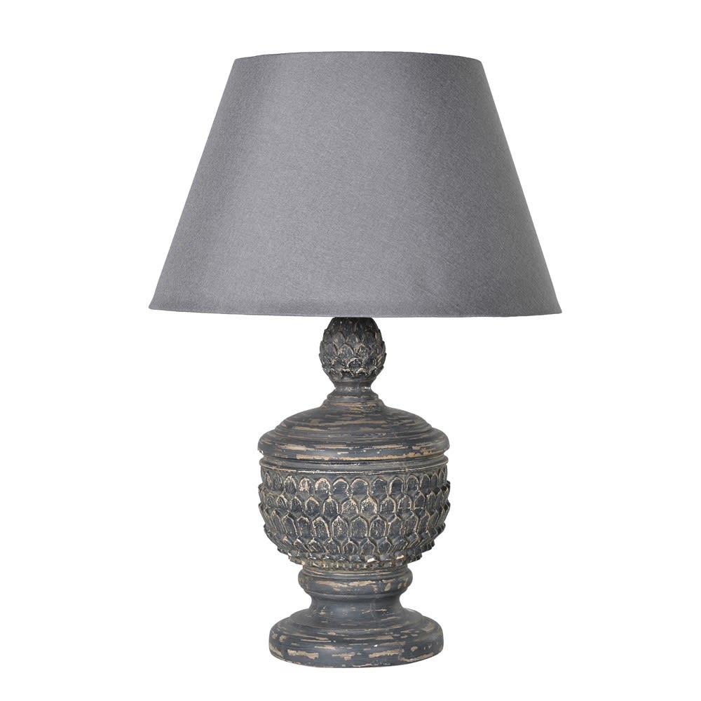 Acorn lamp with shade