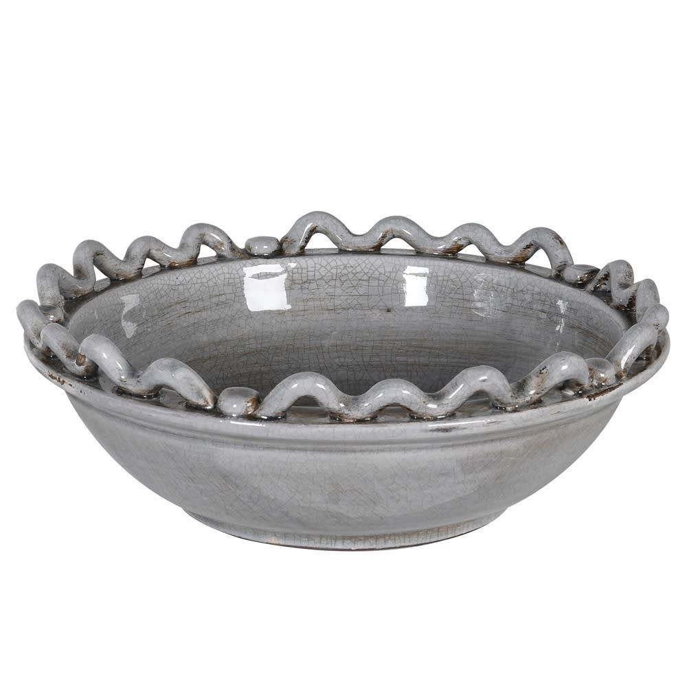 Grey wave and bobble bowl