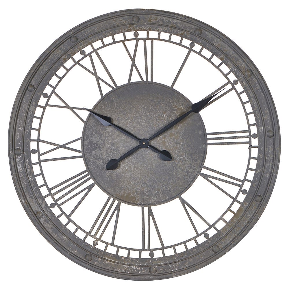 Metal Numerals Wall Clock