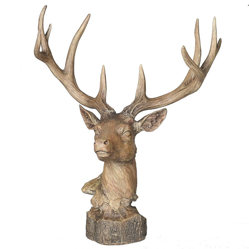 Wood Effect Deer Head