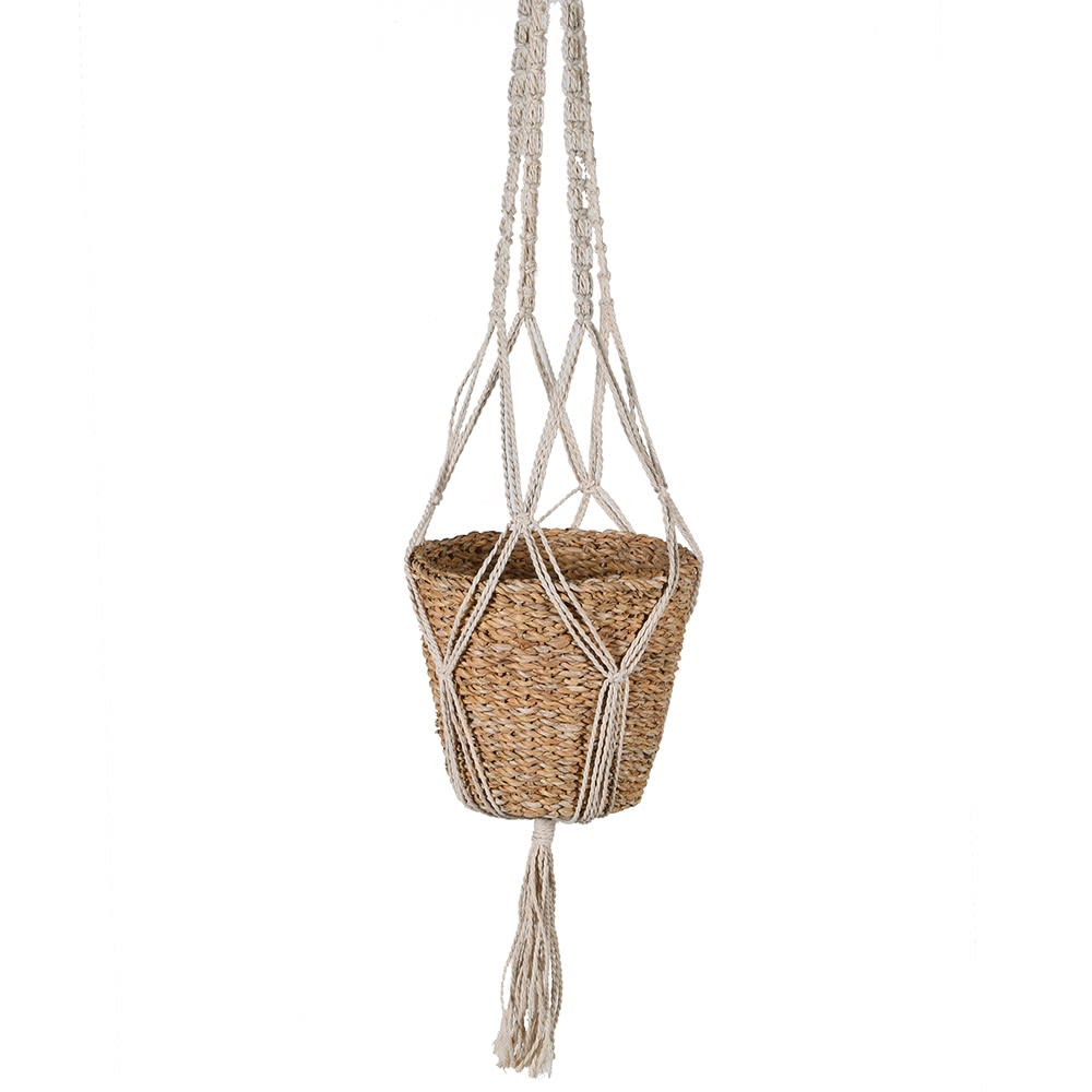 Sea grass hanging planter