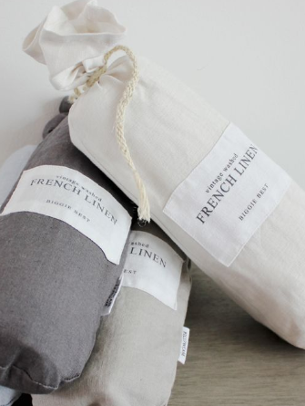 Set of 2 French Linen Pillowcases - 3 Colours