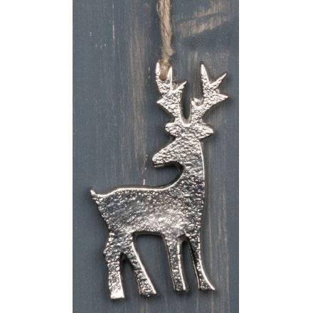 Small silver hanging stag