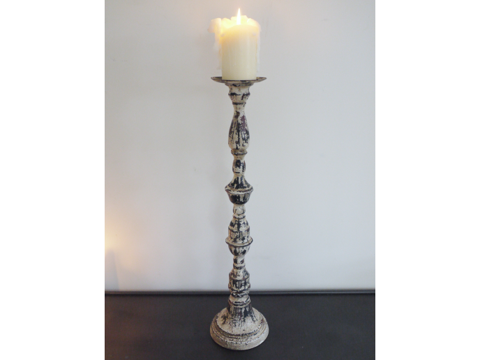 Large rustic candle holder