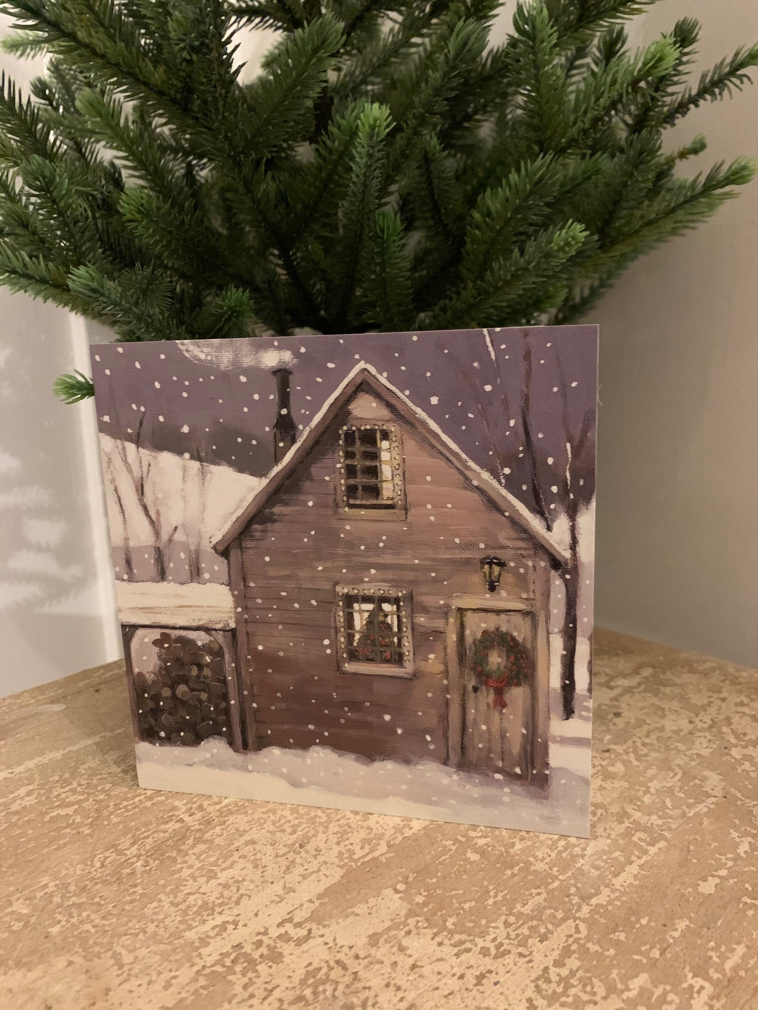 Christmas Cards - Pack of 6 - 'Christmas Lodge'
