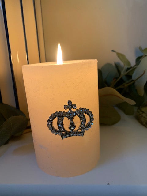 Crown candle pin