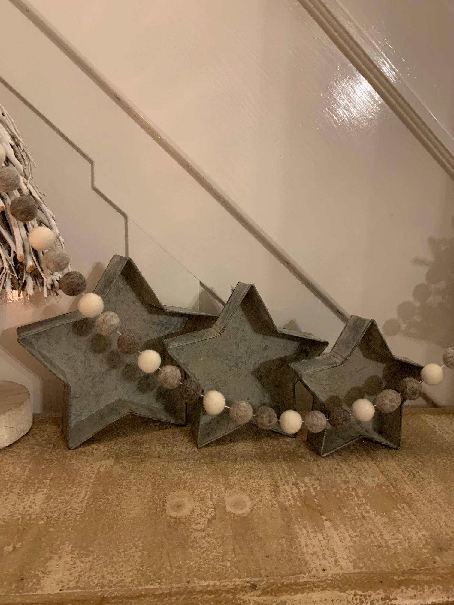 Rustic Tin Star Trays - 3 sizes