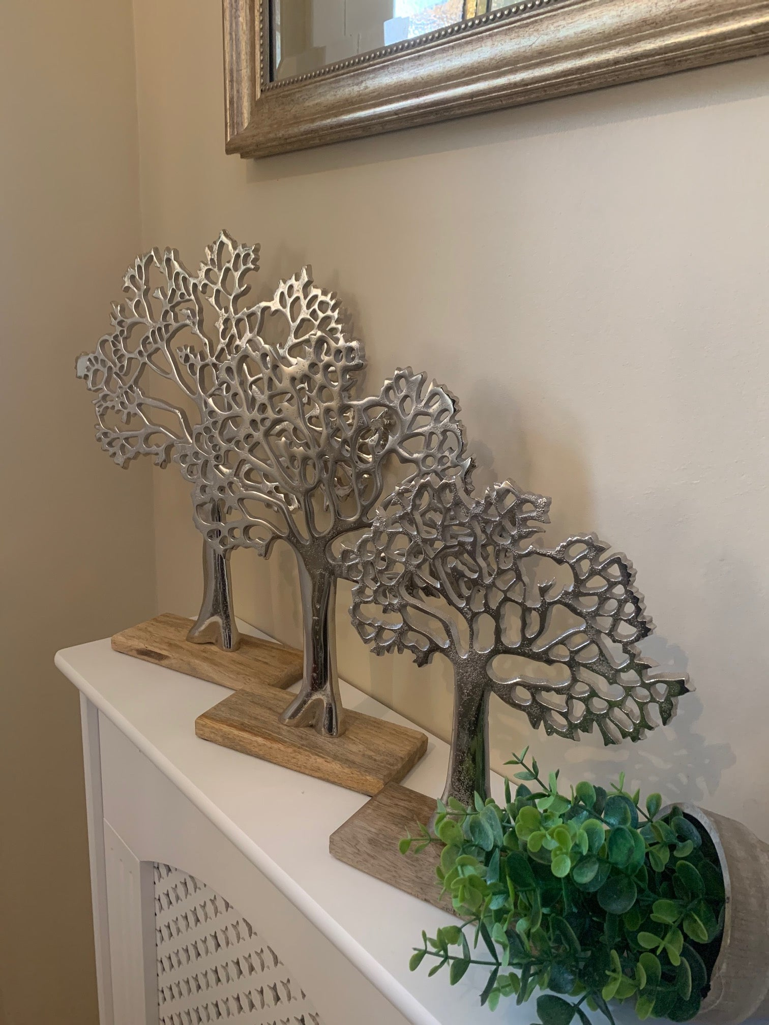 Silver Tree Ornament - 3 Sizes