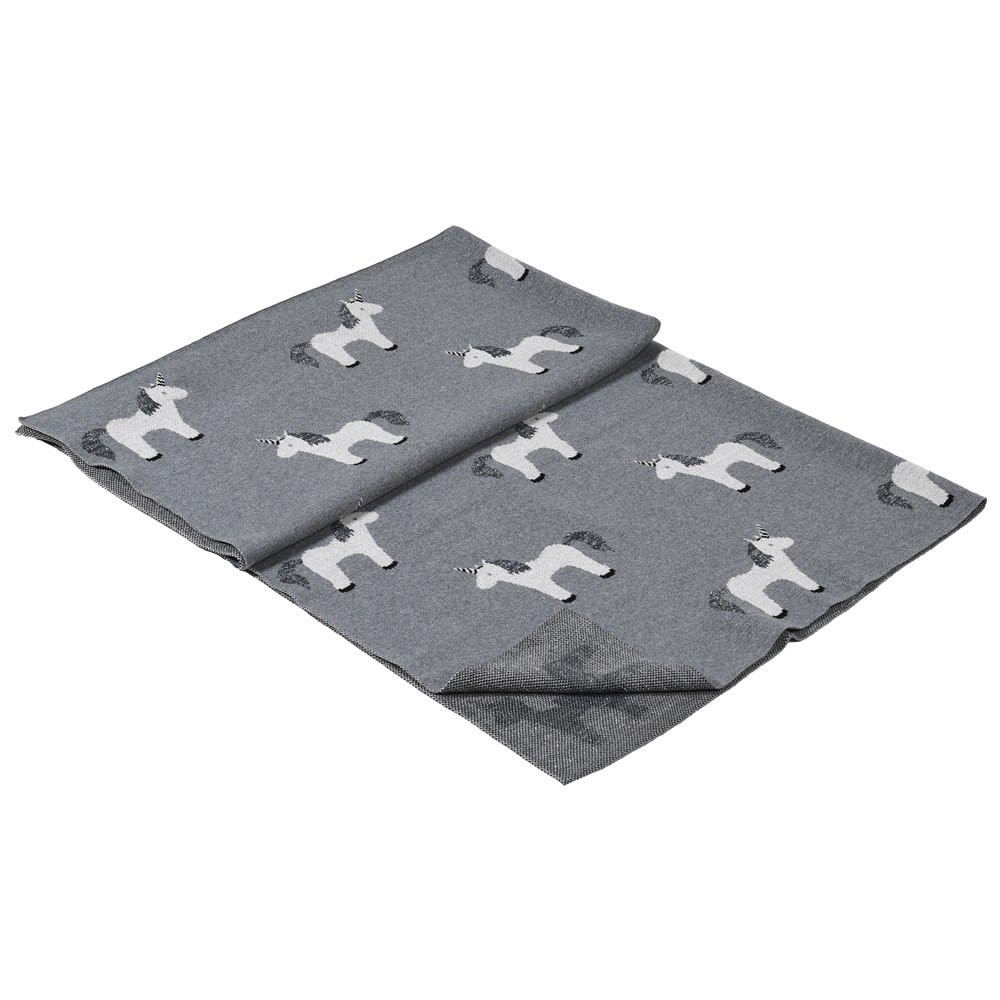 Grey Unicorn Throw