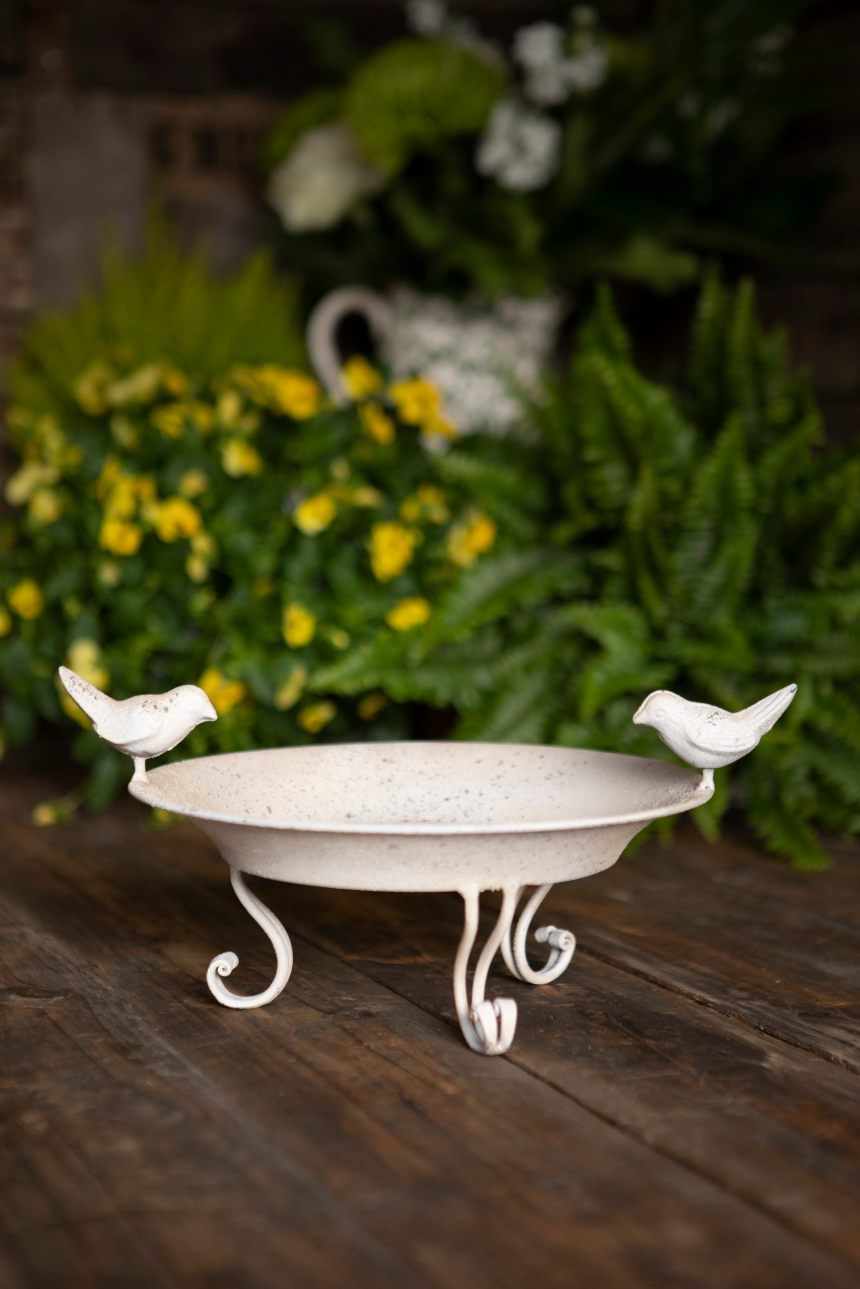 Antique White Bird Dish