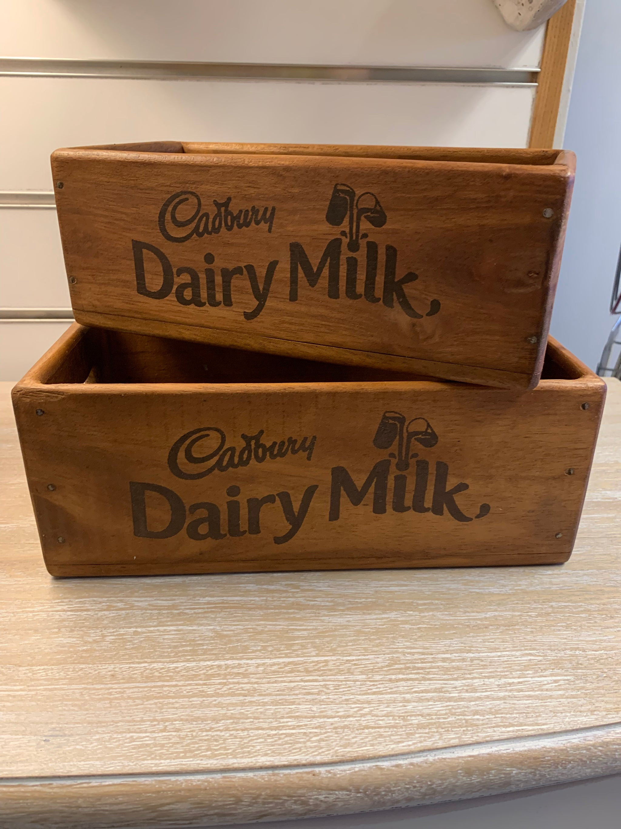 Cadburys Dairy Milk Wooden Boxes