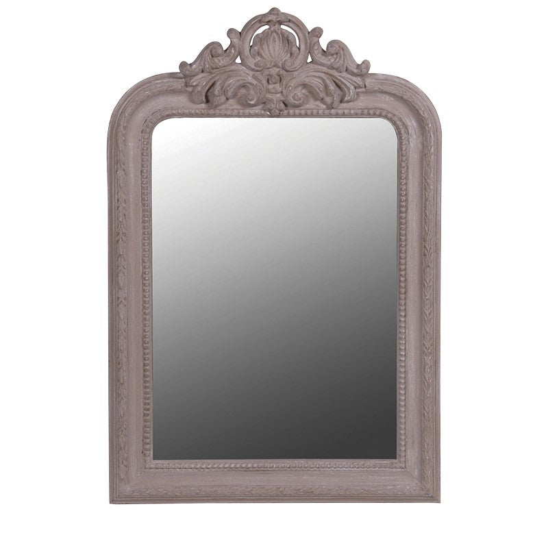 *SALE* Taupe Carved Top Mirror