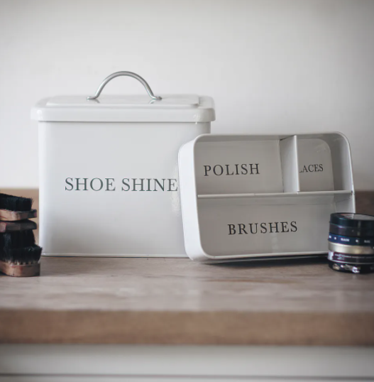 Shoeshine Box - Grey or Cream