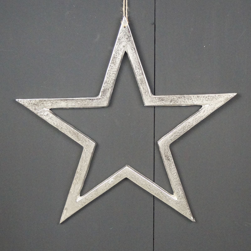 Silver Hanging Stars