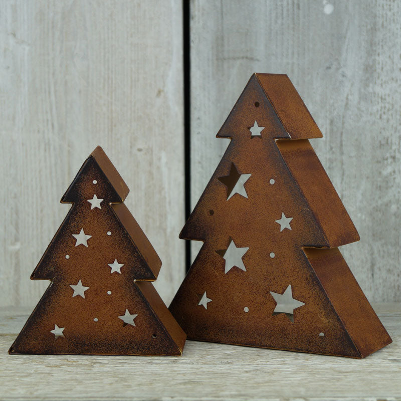 Rusty Tree Tealight Holders