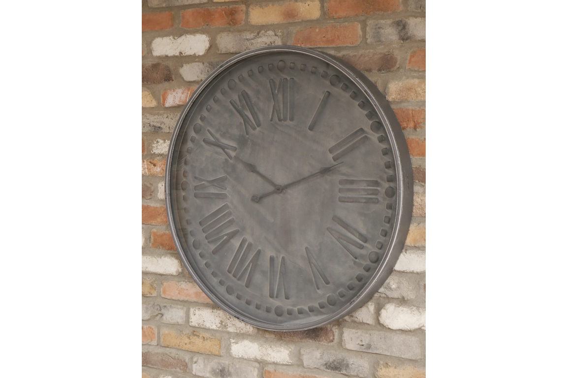 Large Grey Clock