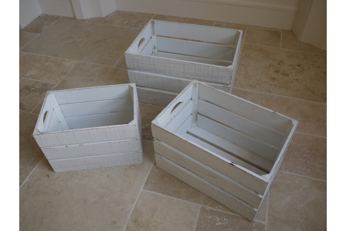 White wooden crates - 3 sizes