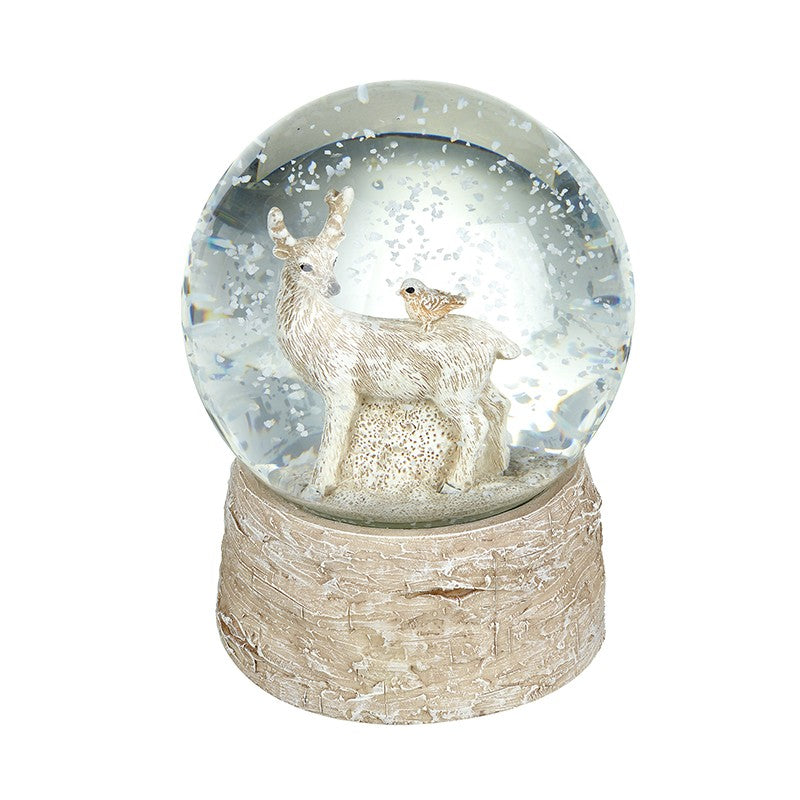 Standing Deer with Friends Snowglobe